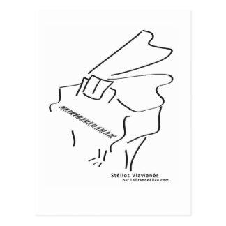 Tarjeta piano postal
