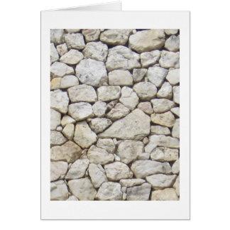 Tarjeta Piedra blanca