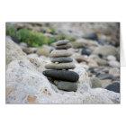 Tarjeta Piedras zen en la playa de Almería