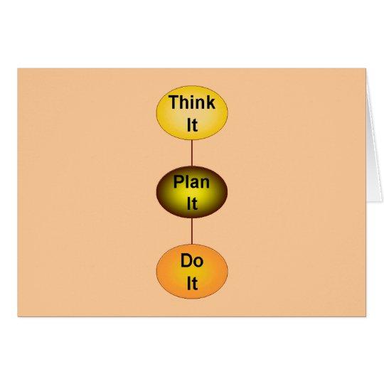 Tarjeta Piénselo plan que lo hace