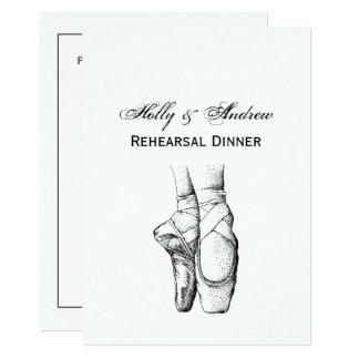 Tarjeta Pies de la bailarina en Pointe #1