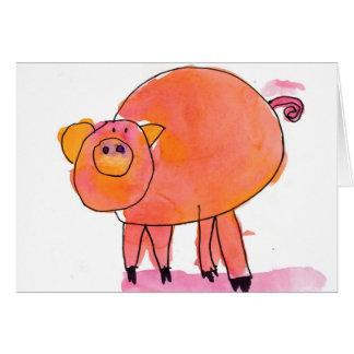 Tarjeta Piggle • Sarah Bowen, edad 7