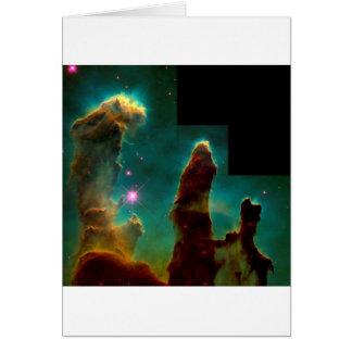Tarjeta Pilares de la creación - imagen del telescopio