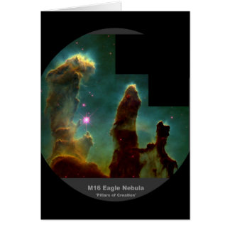 Tarjeta Pilares de la nebulosa de M16 Eagle 'de Creation