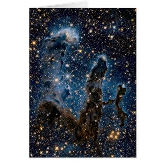 Tarjeta Pilares infrarrojos de la nebulosa de Eagle de la