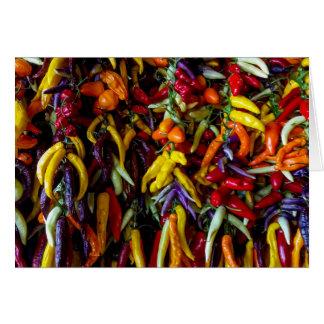 Tarjeta Pimienta de chile