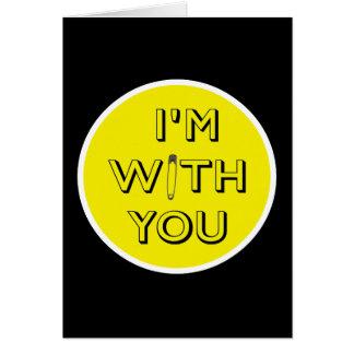Tarjeta Pin de seguridad - Estoy con usted