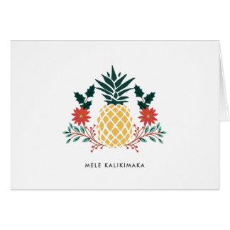 Tarjeta Piña del navidad del Hawaiian de Mele Kalikimaka