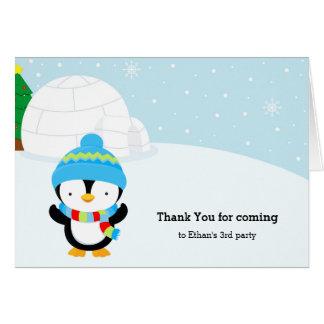 Tarjeta Pingüino lindo