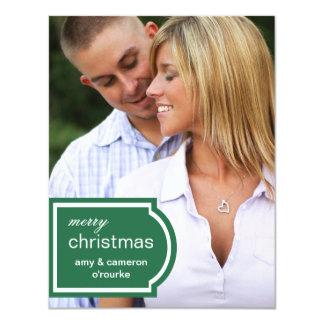 Tarjeta-pino marcado con etiqueta del navidad de invitación 10,8 x 13,9 cm