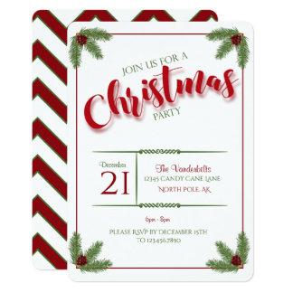 Tarjeta Pino y fiesta de Navidad de las bayas
