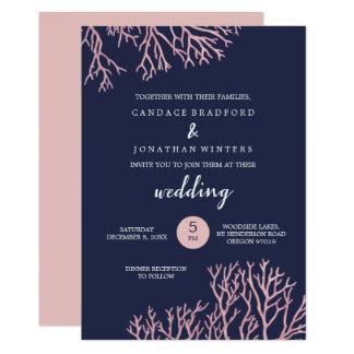 Tarjeta Pintado se ruboriza el boda tropical de la playa