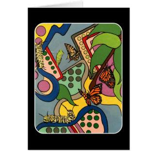Tarjeta Pintura abstracta de la fábrica de la mariposa de