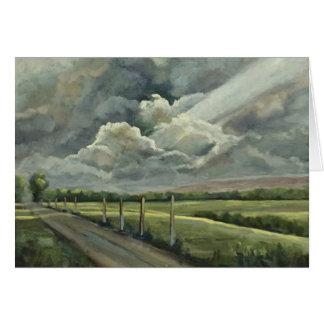 Tarjeta Pintura al óleo original de nubes, de Sun, del