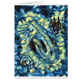 Tarjeta Pintura de dedo - Van Gogh