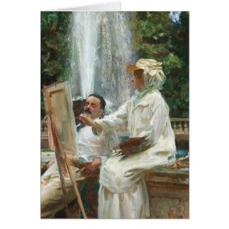 Tarjeta Pintura de la mujer en el chalet Torlonia Italia