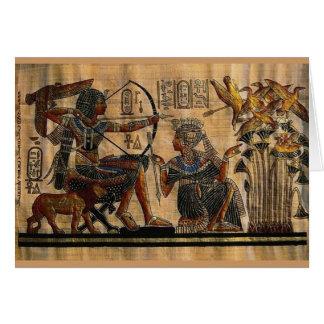 Tarjeta Pintura de la tumba en el papiro