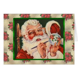 Tarjeta Pintura de Santa del vintage