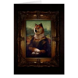 Tarjeta Pintura de Shibe Meme de la bella arte de Mona