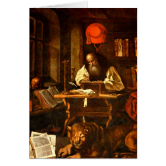 Tarjeta Pintura de St Jerome