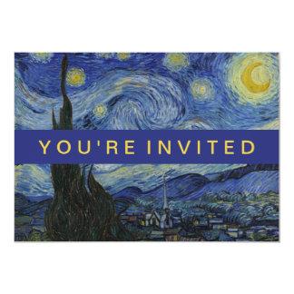 Tarjeta Pintura de Vincent van Gogh de la noche estrellada