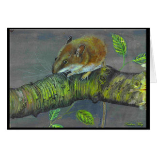 Tarjeta Pintura del ratón de campo