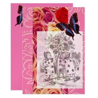 Tarjeta Pintura del rojo 1 de los rosas