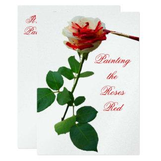 Tarjeta Pintura del rojo 4 de los rosas