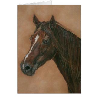 Tarjeta Pintura equina del arte del retrato del caballo de