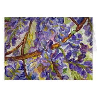 Tarjeta Pintura maravillosa de la acuarela de las