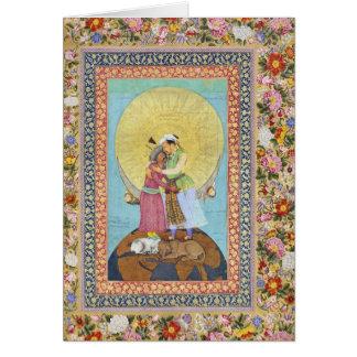 Tarjeta Pintura miniatura de la India a partir de 1618