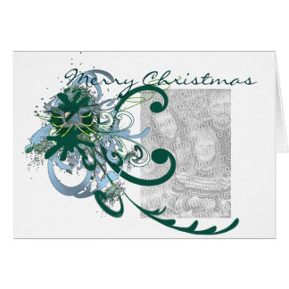 Tarjeta Pintura Splat de Swirly de las Felices Navidad… -