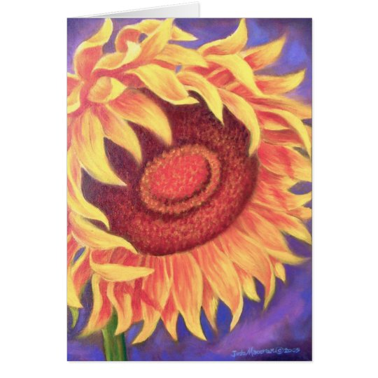 Tarjeta Pintura tropical de la flor del girasol - multi