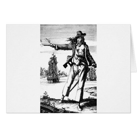 Tarjeta pirata de sexo femenino