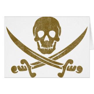 Tarjeta Pirata del vintage
