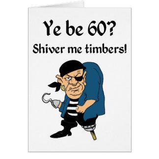 Tarjeta Piratee el 60.o cumpleaños