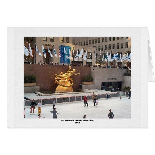 Tarjeta Pista de patinaje de la plaza de Rockefeller