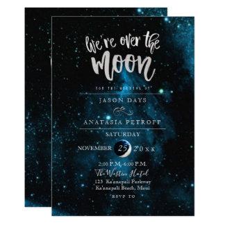 Tarjeta PixDezines estamos sobre el boda de la luna
