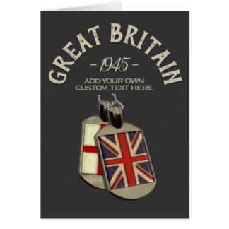 Tarjeta Placas de identificación inglesas de Gran Bretaña