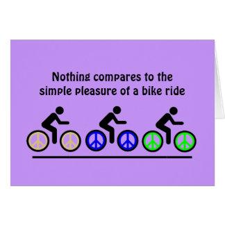 Tarjeta placer del montar a caballo de la bici