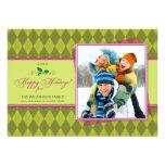 Tarjeta plana de Argyle del invierno buenas fiesta Invitacion Personalizada