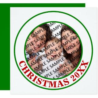 Tarjeta plana de la foto conmemorativa del navidad