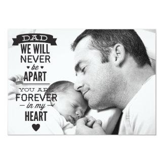 Tarjeta plana de la foto del día de padre -