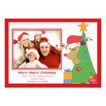 Tarjeta plana de la foto del navidad de la diversi comunicado personal