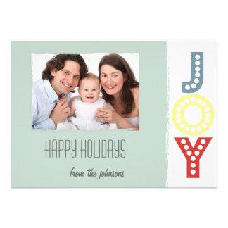 Tarjeta plana de la foto minimalista de la alegría