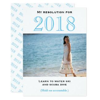 Tarjeta plana de la resolución el | del Año Nuevo