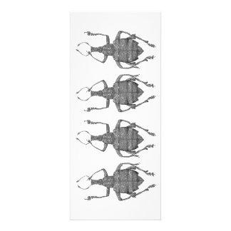 tarjeta plana de los escarabajos del baile comunicados personalizados