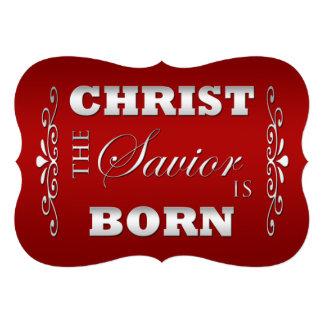Tarjeta plana del navidad religioso cristiano comunicados personalizados