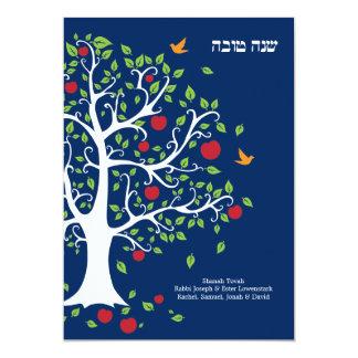 Tarjeta plana dulce de Apple Rosh Hashanah