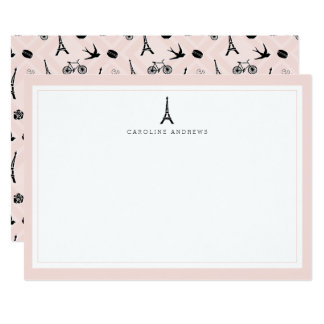 Tarjeta plana personalizada el   de los efectos de invitación 12,7 x 17,8 cm